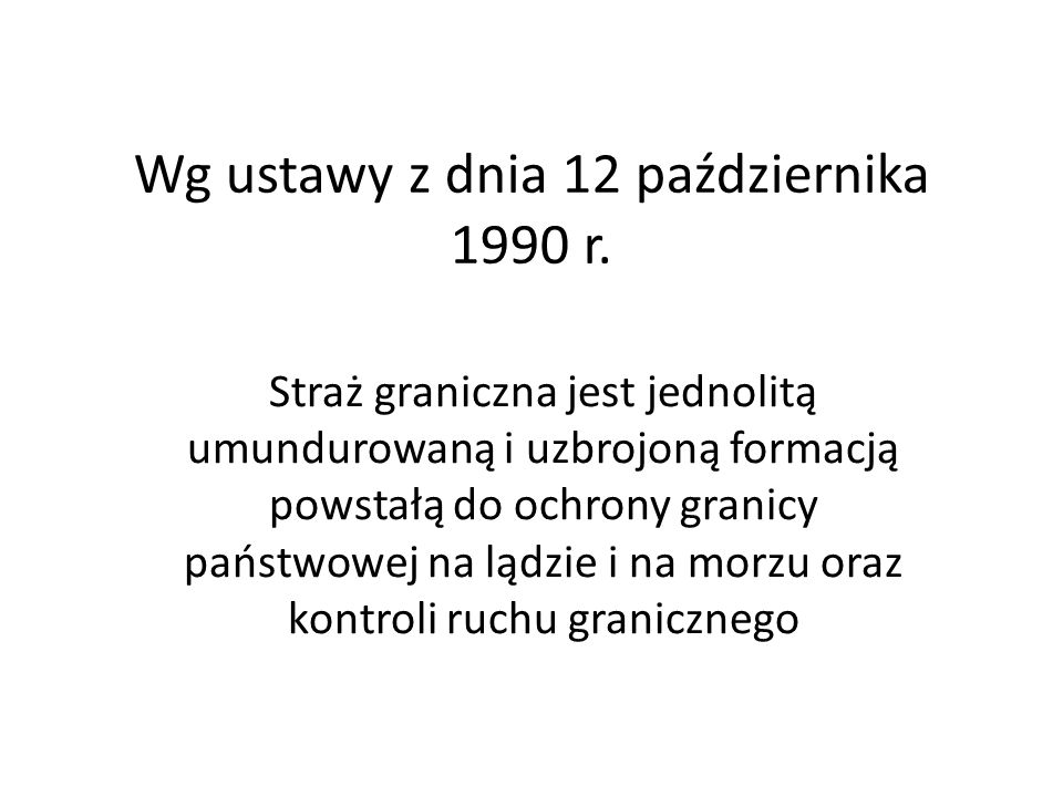 Wg ustawy z dnia 12 października 1990 r.