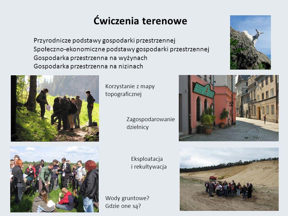 Ćwiczenia terenowe Przyrodnicze podstawy gospodarki przestrzennej