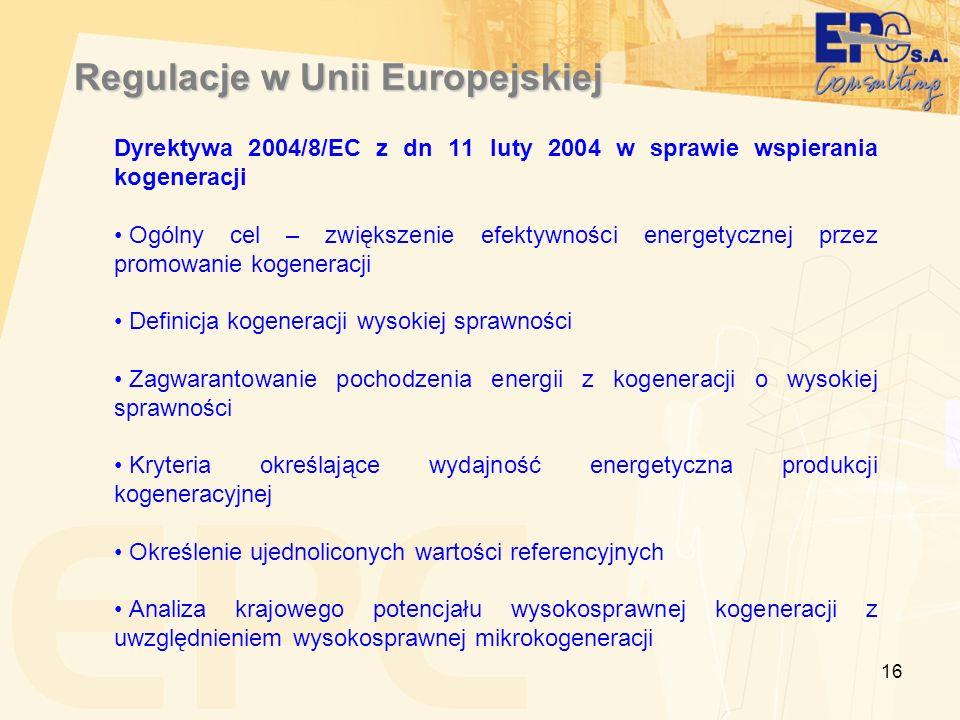 Regulacje w Unii Europejskiej