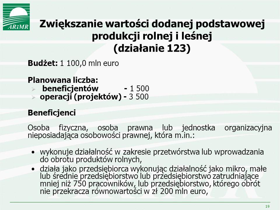 Zwiększanie wartości dodanej podstawowej produkcji rolnej i leśnej (działanie 123)