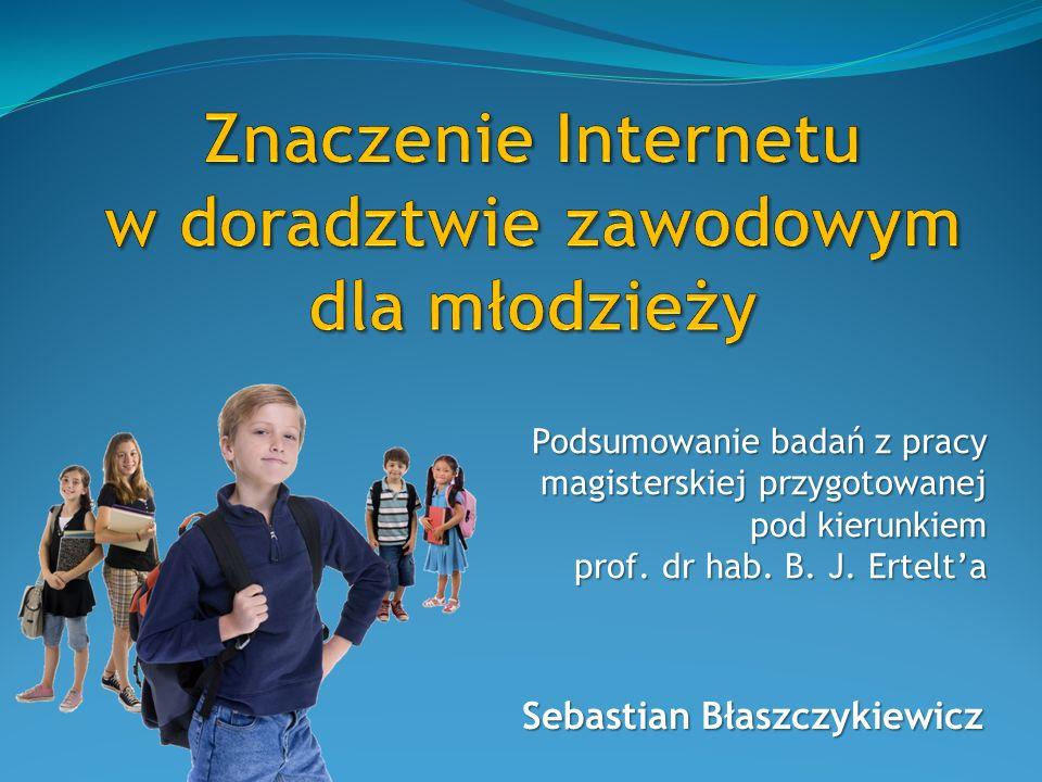 Znaczenie Internetu w doradztwie zawodowym dla młodzieży