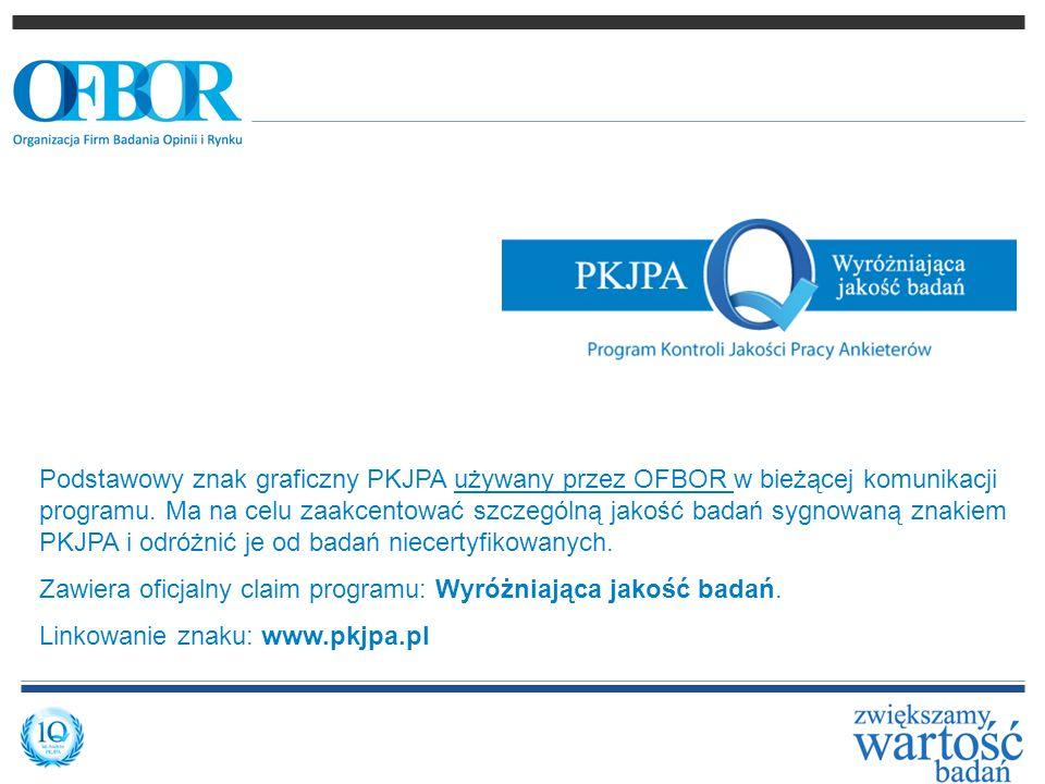 Podstawowy znak graficzny PKJPA używany przez OFBOR w bieżącej komunikacji programu. Ma na celu zaakcentować szczególną jakość badań sygnowaną znakiem PKJPA i odróżnić je od badań niecertyfikowanych.