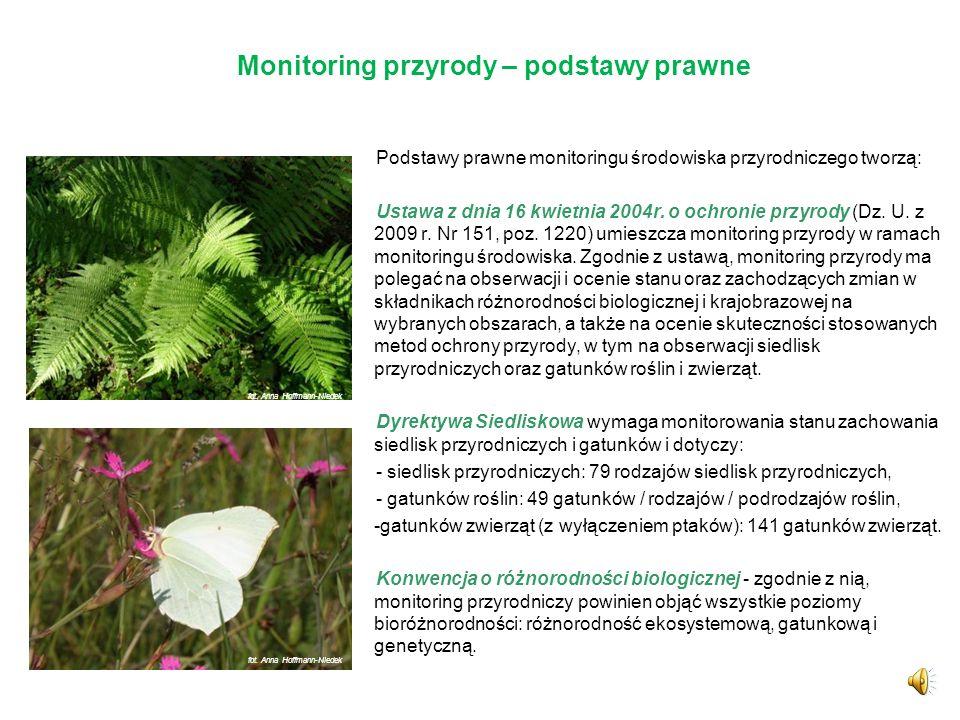 Monitoring przyrody – podstawy prawne