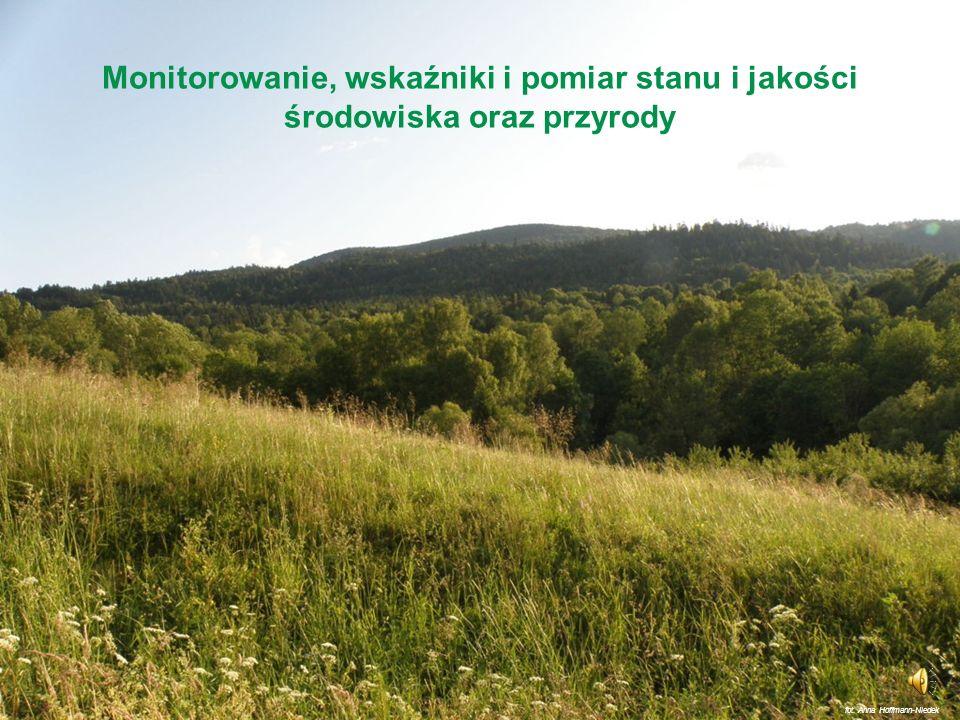 Monitorowanie, wskaźniki i pomiar stanu i jakości środowiska oraz przyrody