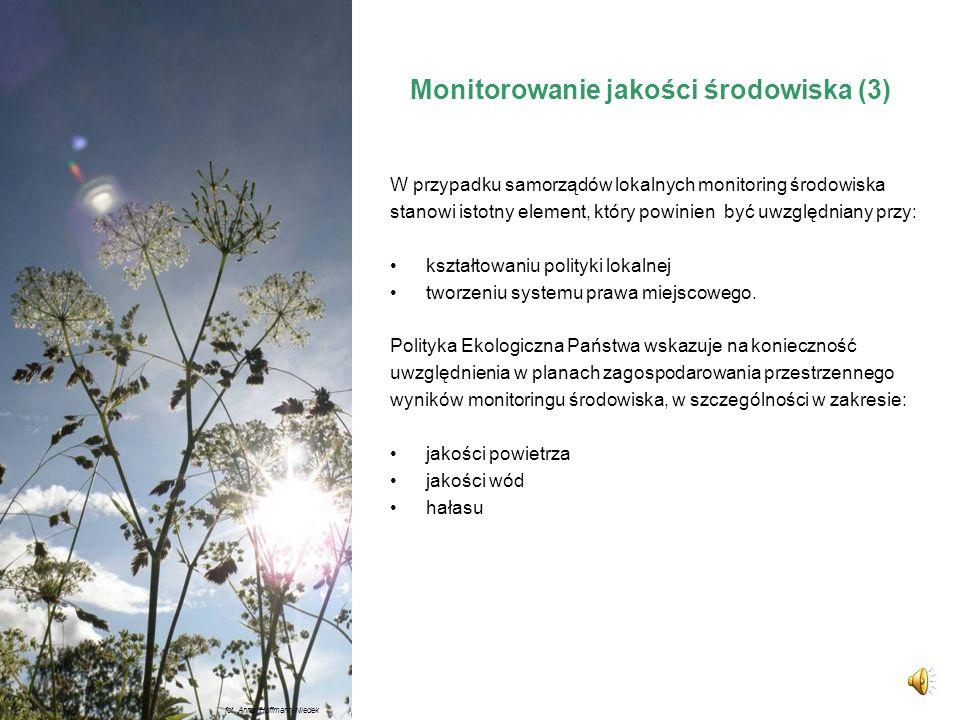 Monitorowanie jakości środowiska (3)