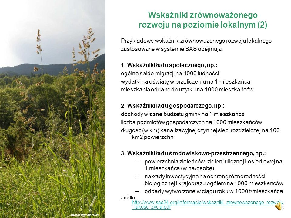 Wskaźniki zrównoważonego rozwoju na poziomie lokalnym (2)