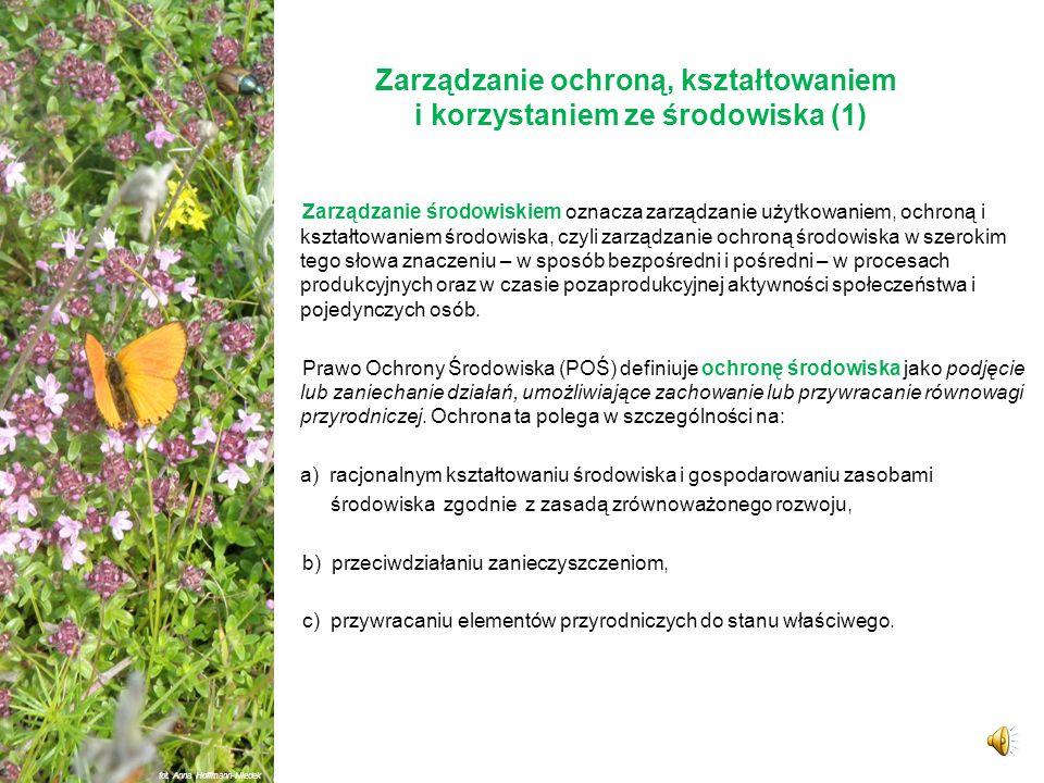 Zarządzanie ochroną, kształtowaniem i korzystaniem ze środowiska (1)