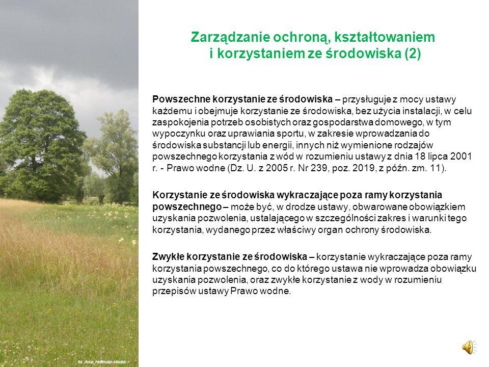 Zarządzanie ochroną, kształtowaniem i korzystaniem ze środowiska (2)