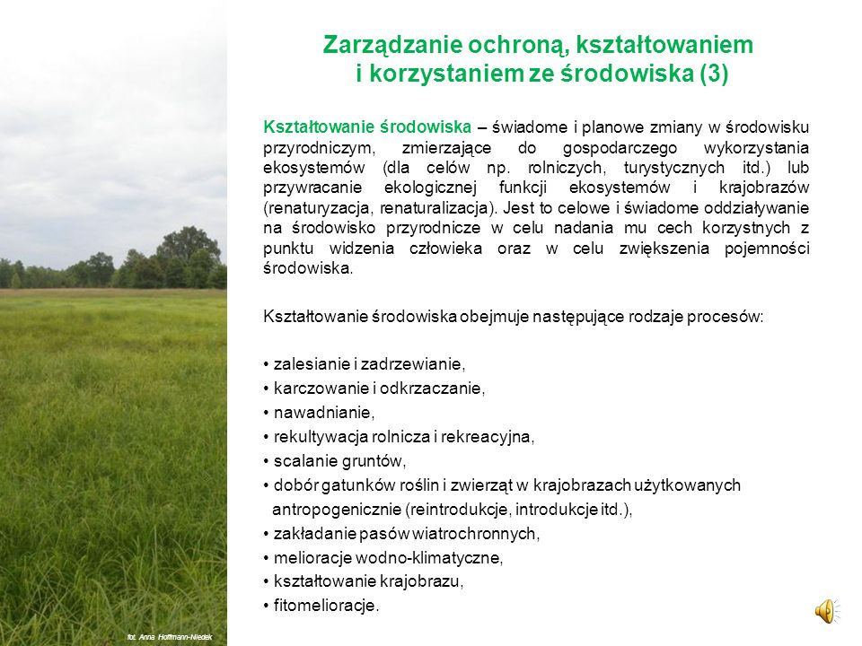 Zarządzanie ochroną, kształtowaniem i korzystaniem ze środowiska (3)