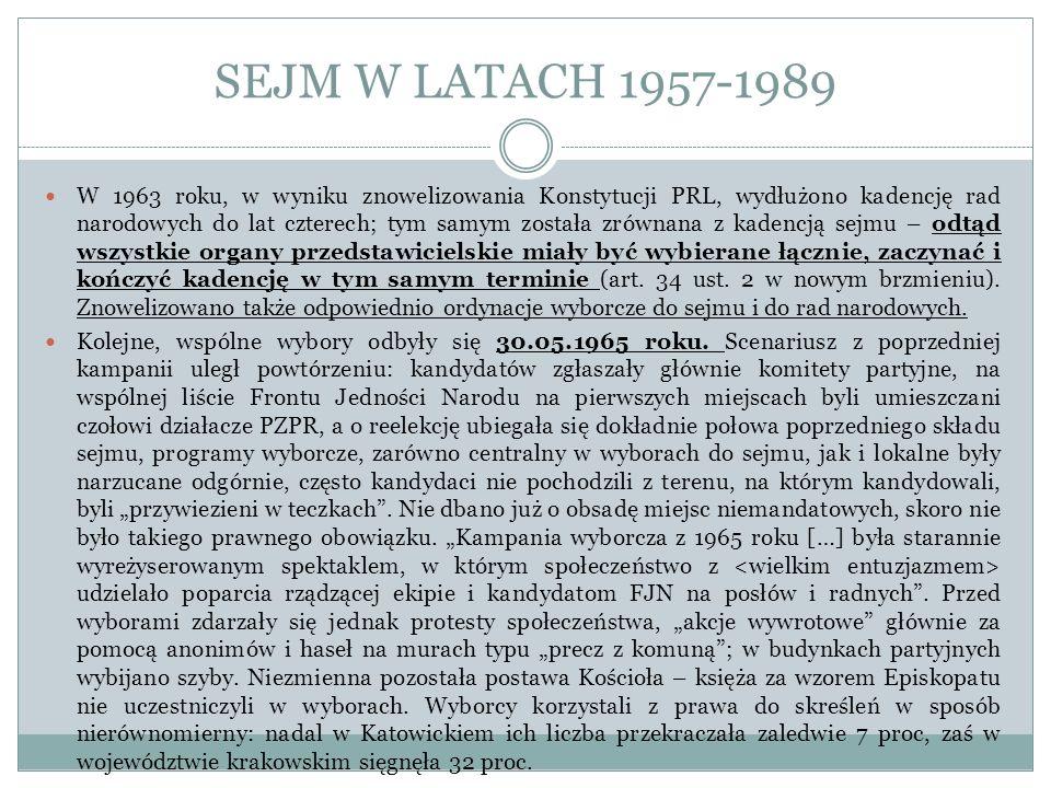 SEJM W LATACH 1957-1989