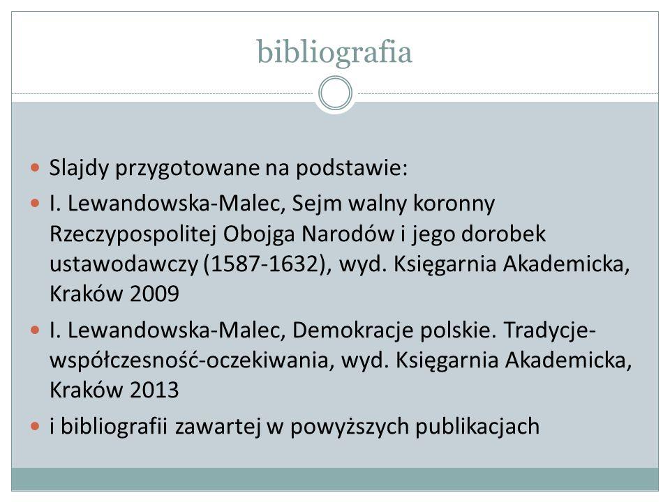 bibliografia Slajdy przygotowane na podstawie: