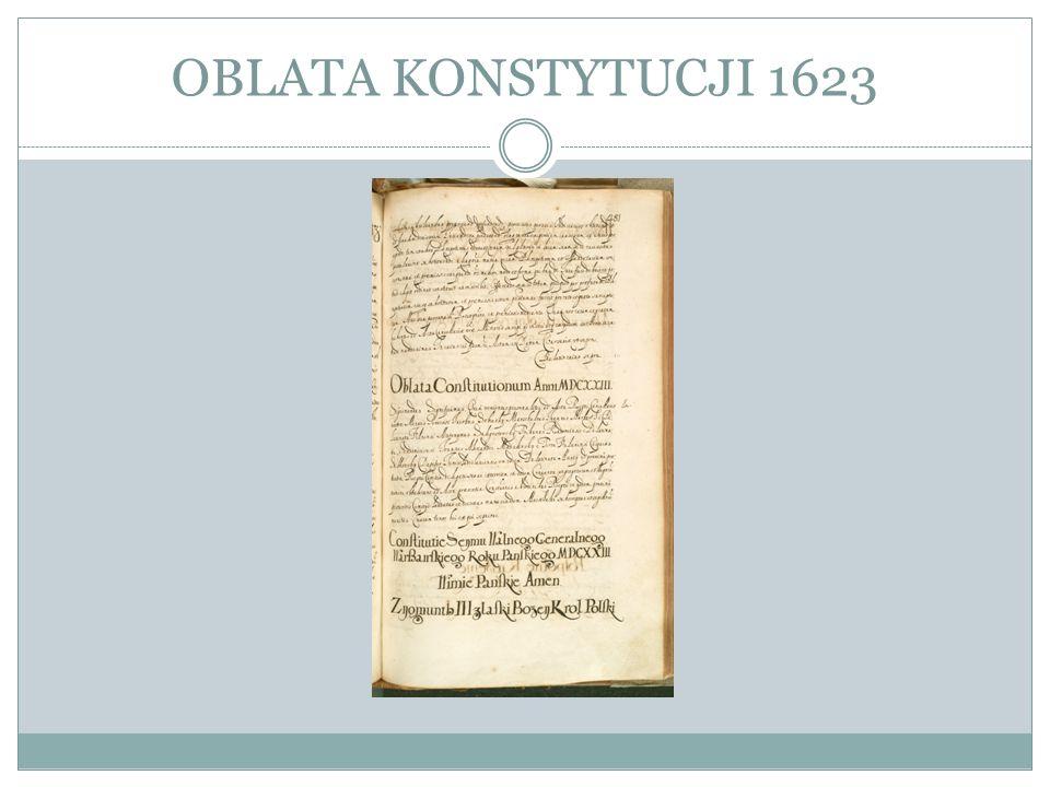 OBLATA KONSTYTUCJI 1623