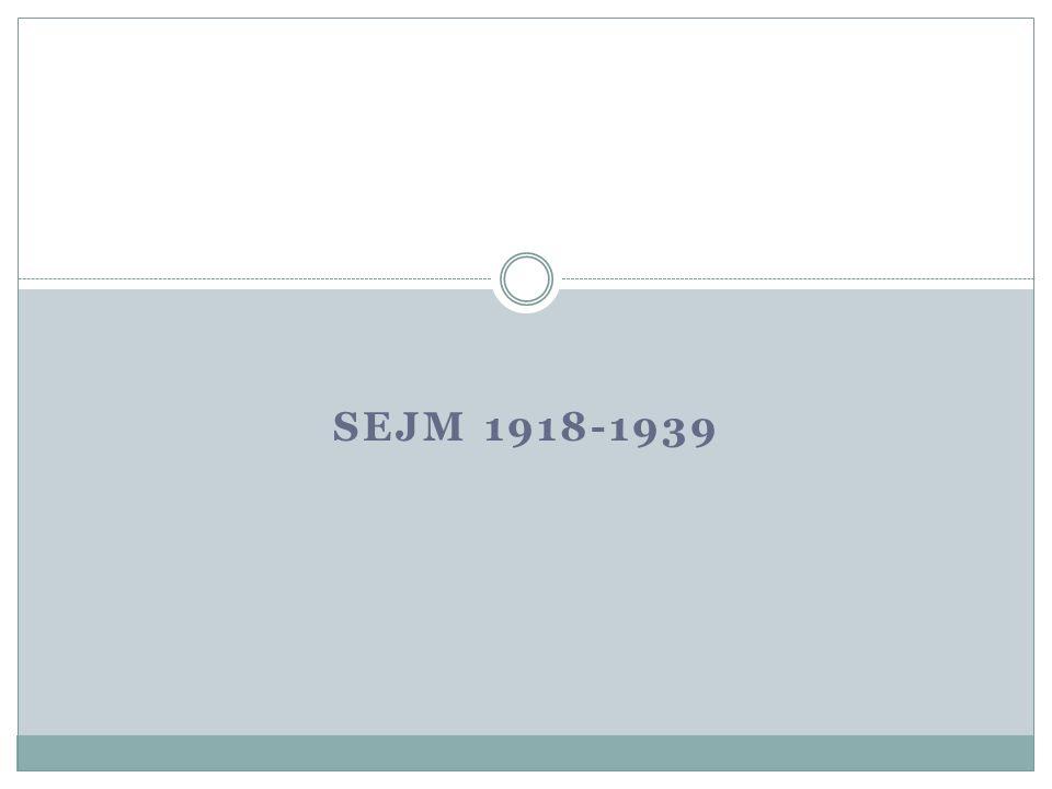 SEJM 1918-1939