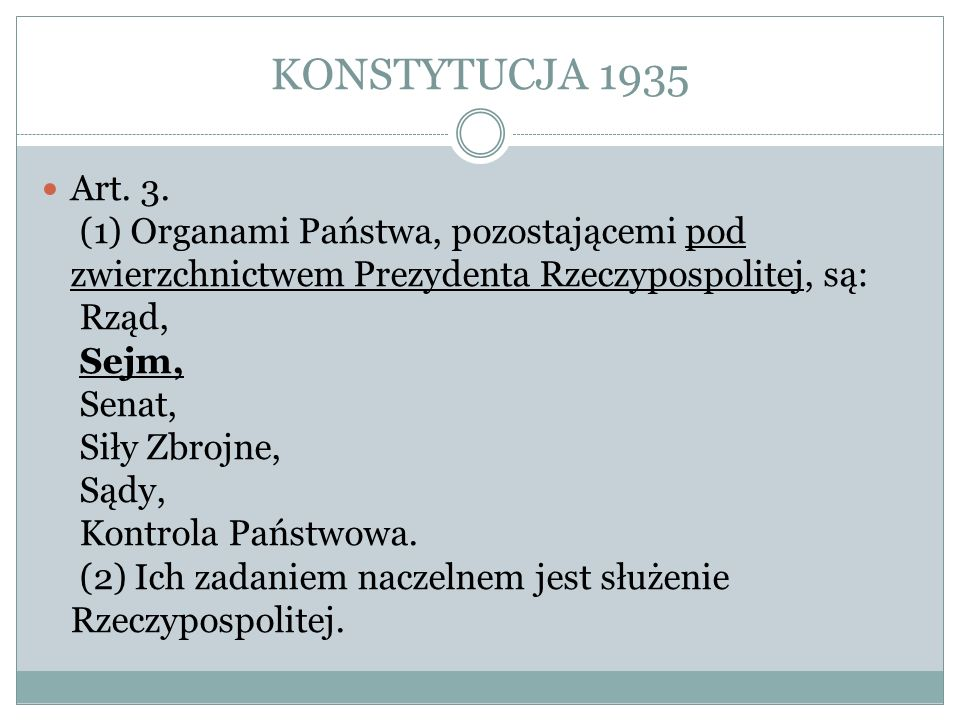 KONSTYTUCJA 1935