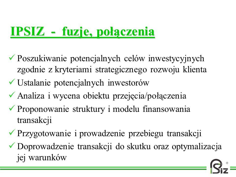 IPSIZ - fuzje, połączenia