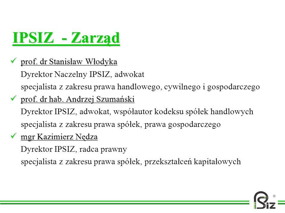 IPSIZ - Zarząd prof. dr Stanisław Włodyka