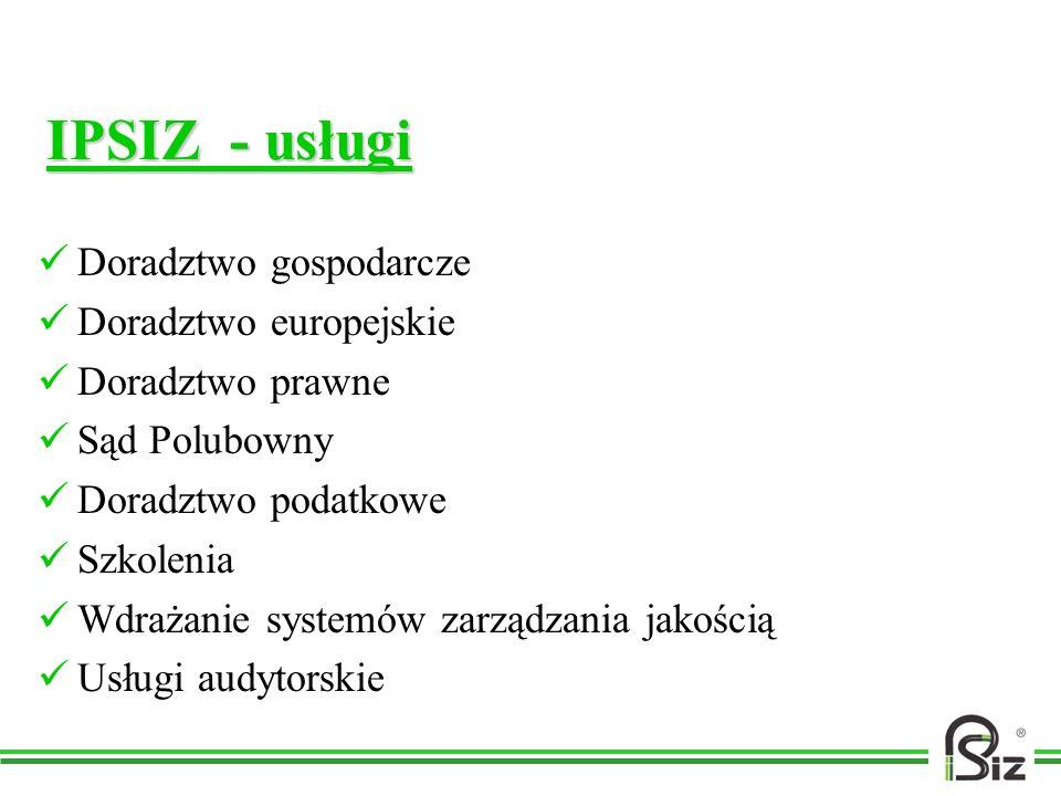 IPSIZ - usługi Doradztwo gospodarcze Doradztwo europejskie