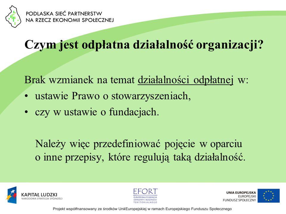 Czym jest odpłatna działalność organizacji