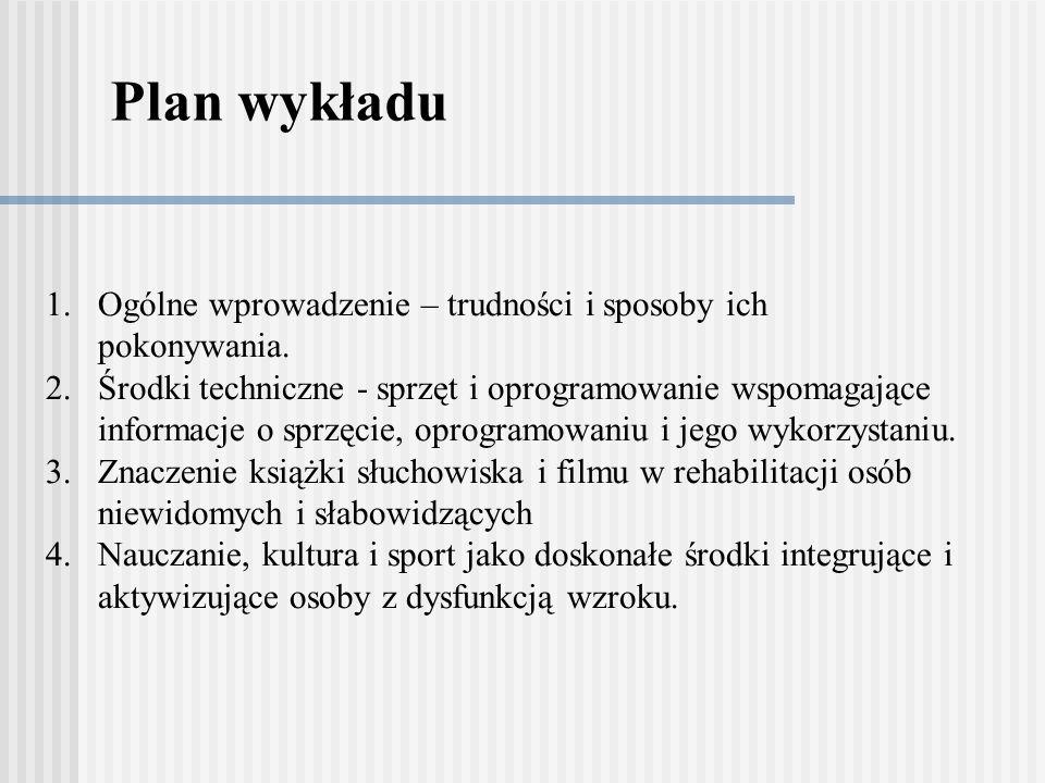 Plan wykładu Ogólne wprowadzenie – trudności i sposoby ich pokonywania.