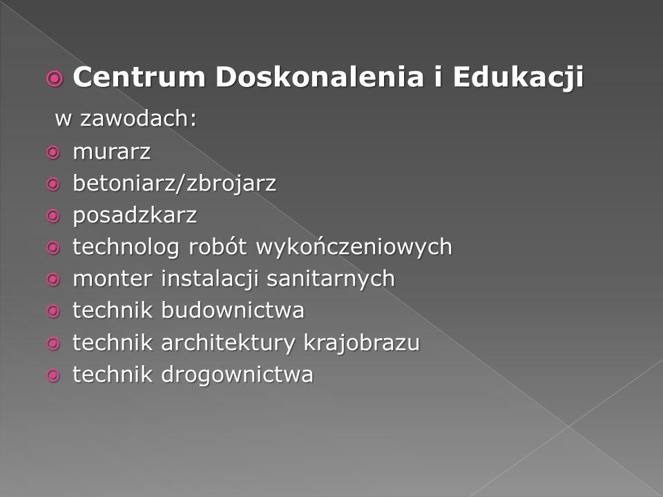 Centrum Doskonalenia i Edukacji w zawodach: