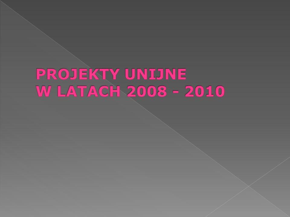 PROJEKTY UNIJNE W LATACH 2008 - 2010