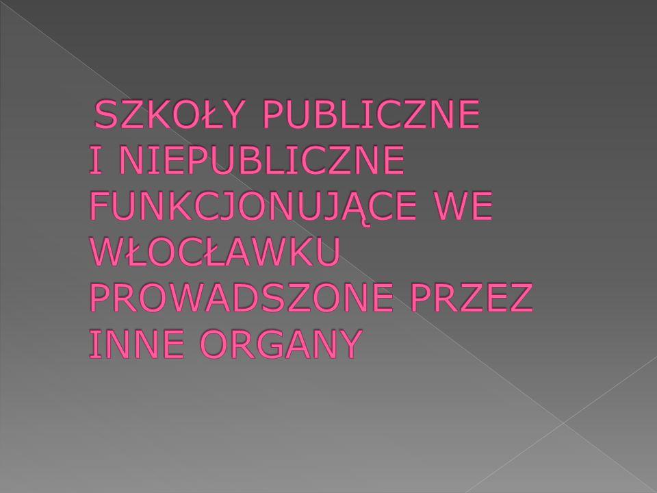 SZKOŁY PUBLICZNE I NIEPUBLICZNE FUNKCJONUJĄCE WE WŁOCŁAWKU PROWADSZONE PRZEZ INNE ORGANY