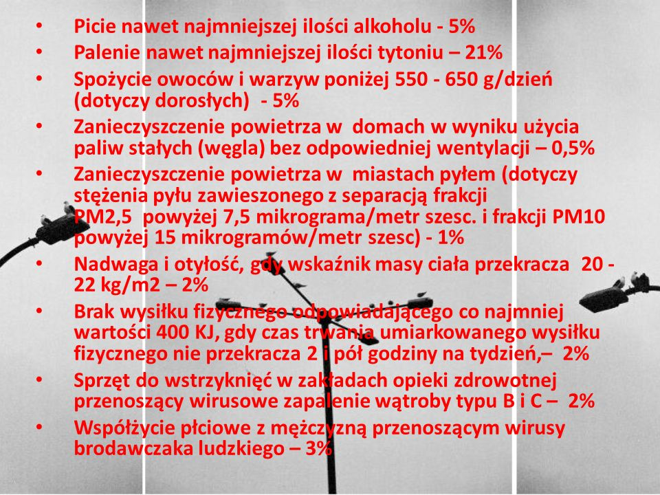 Picie nawet najmniejszej ilości alkoholu - 5%