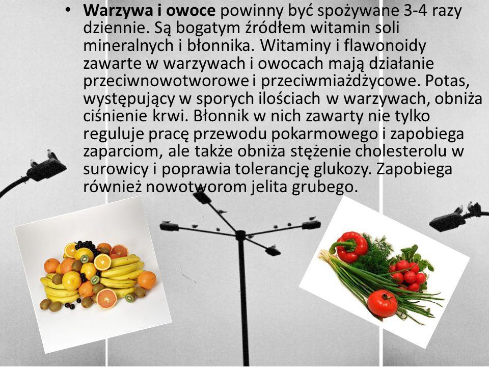 Warzywa i owoce powinny być spożywane 3-4 razy dziennie