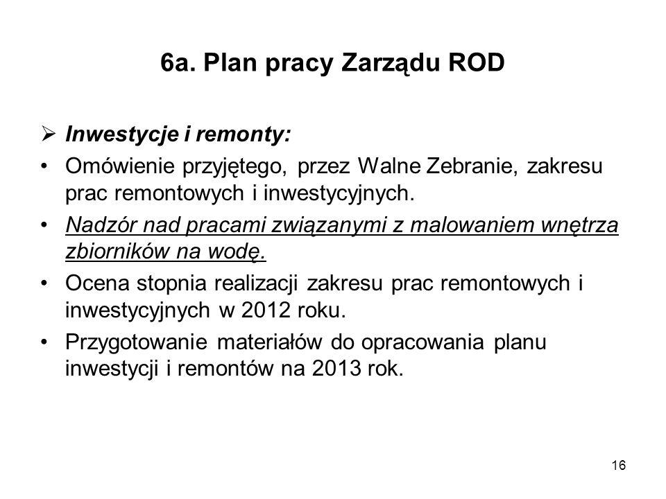 6a. Plan pracy Zarządu ROD