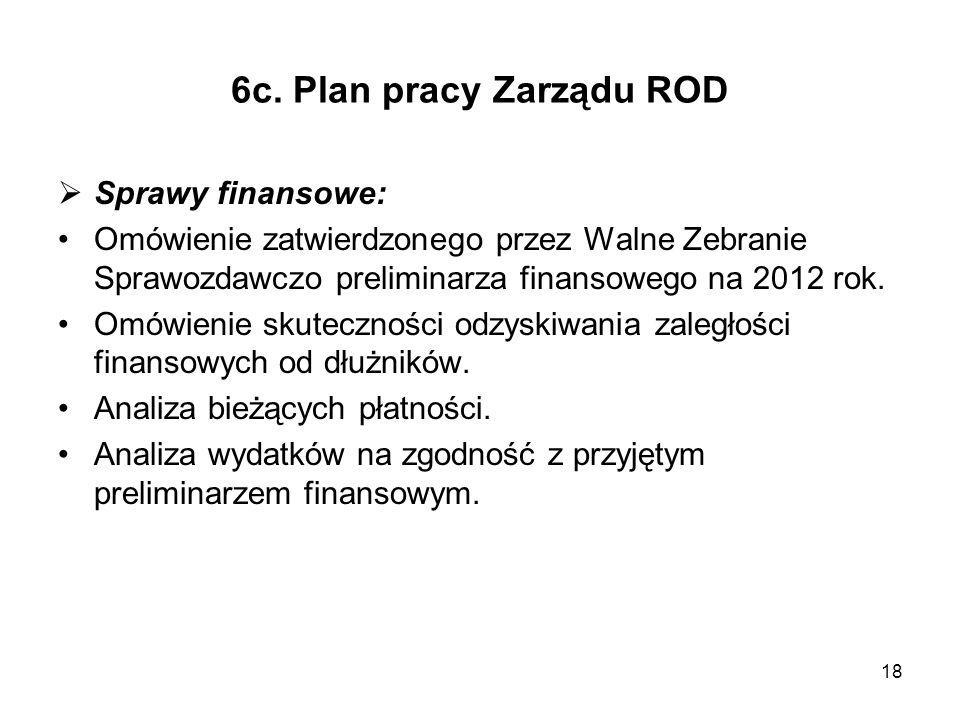 6c. Plan pracy Zarządu ROD