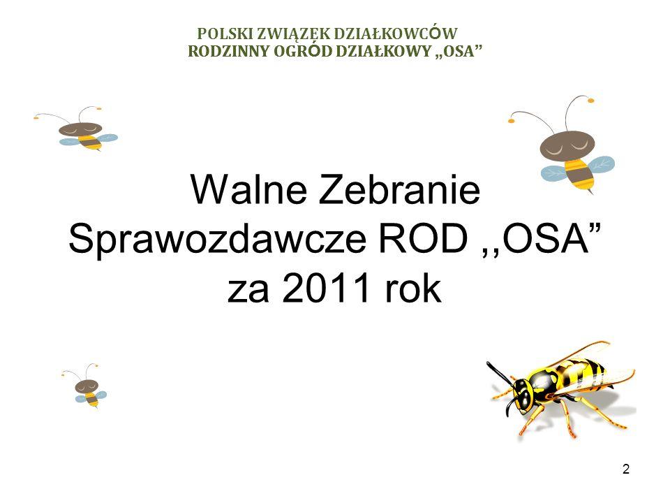 Walne Zebranie Sprawozdawcze ROD ,,OSA za 2011 rok