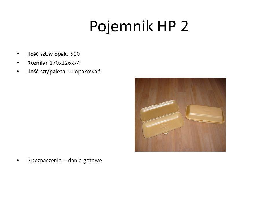 Pojemnik HP 2 Ilość szt.w opak. 500 Rozmiar 170x126x74