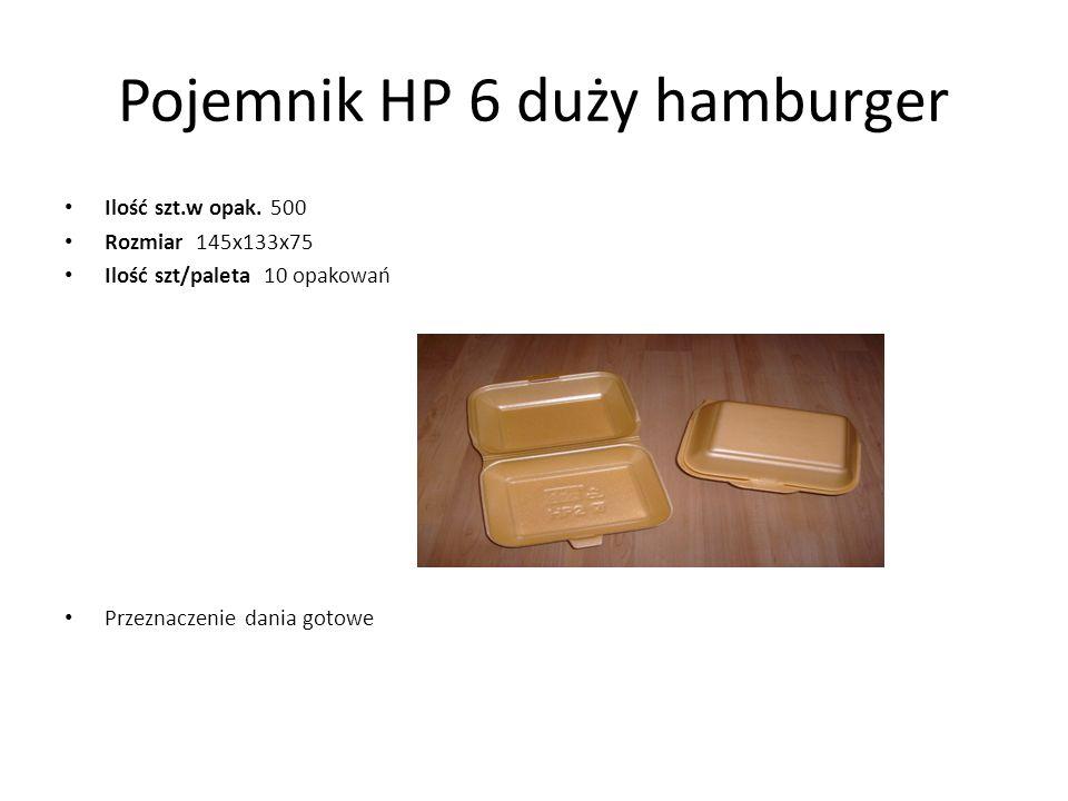 Pojemnik HP 6 duży hamburger