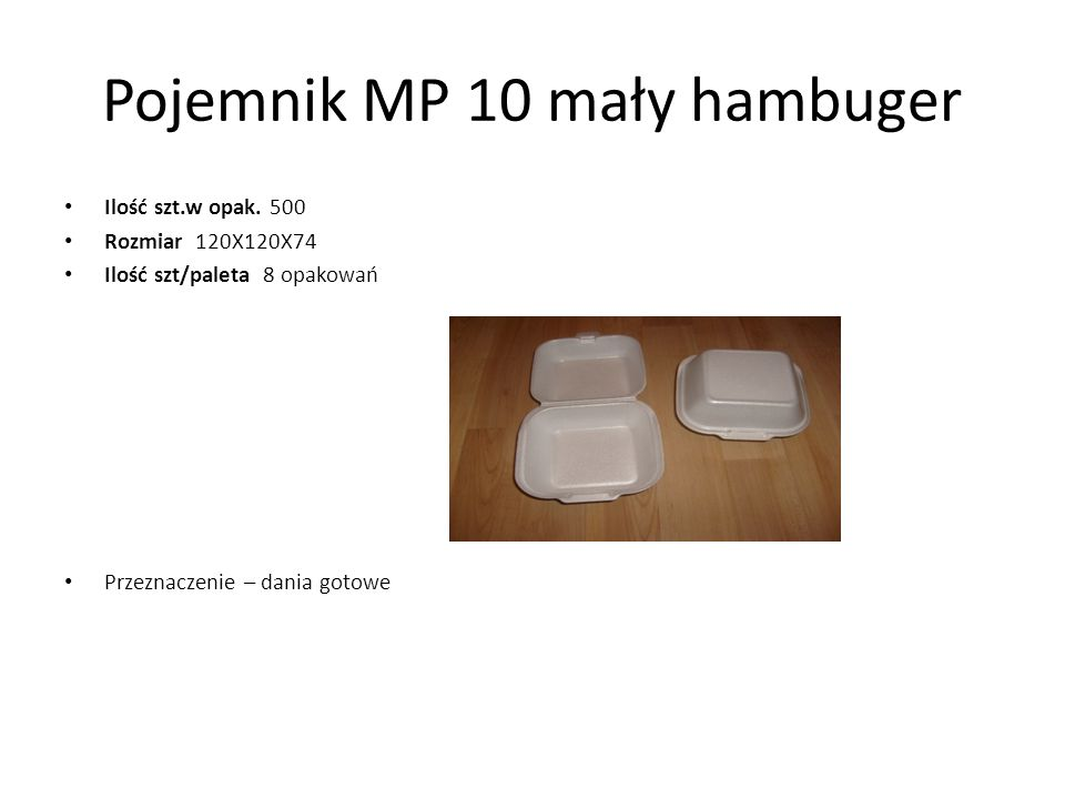 Pojemnik MP 10 mały hambuger