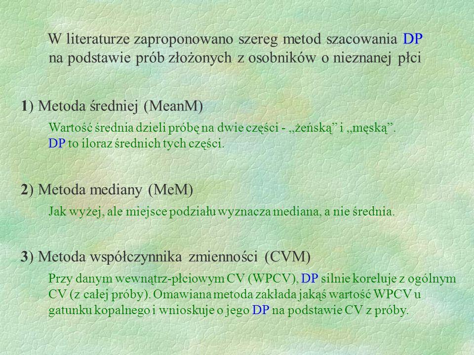 W literaturze zaproponowano szereg metod szacowania DP