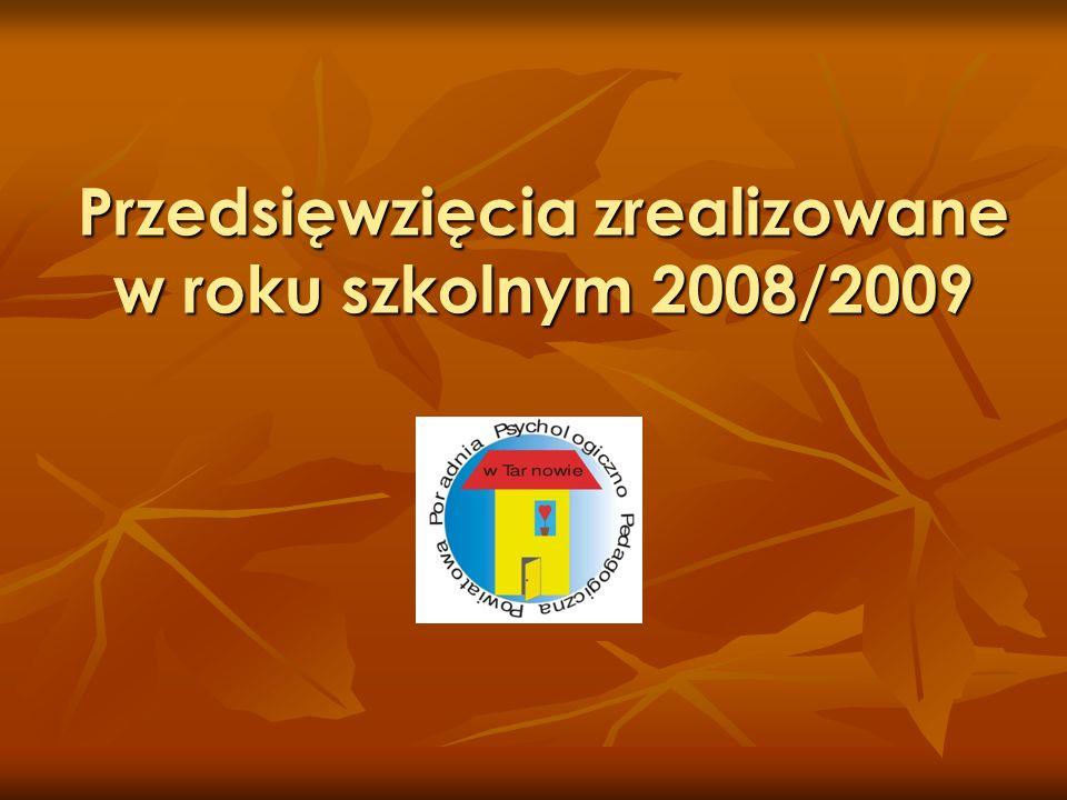 Przedsięwzięcia zrealizowane w roku szkolnym 2008/2009