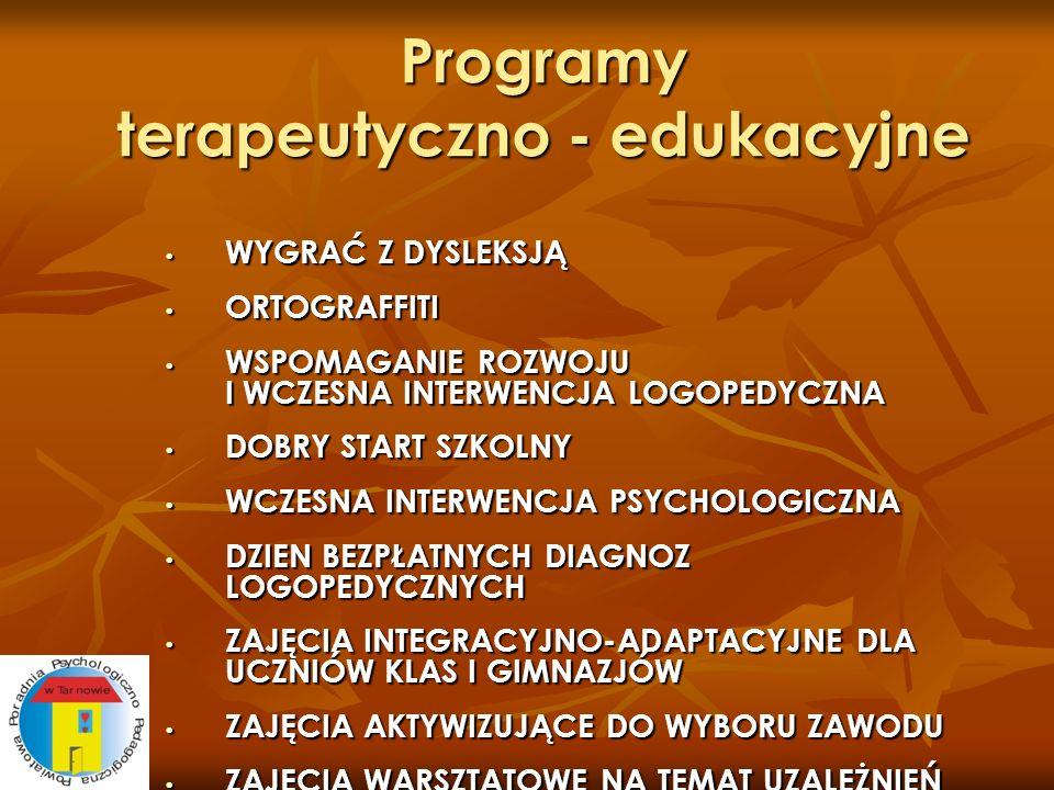 Programy terapeutyczno - edukacyjne