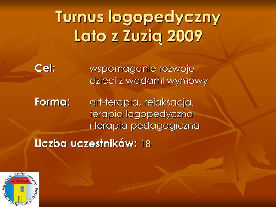 Turnus logopedyczny Lato z Zuzią 2009