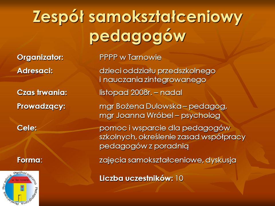 Zespół samokształceniowy pedagogów
