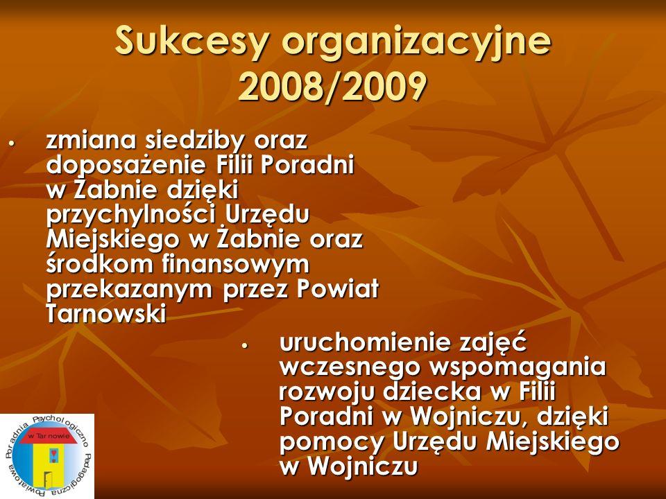 Sukcesy organizacyjne 2008/2009