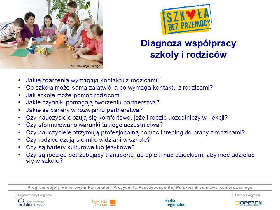 Diagnoza współpracy szkoły i rodziców
