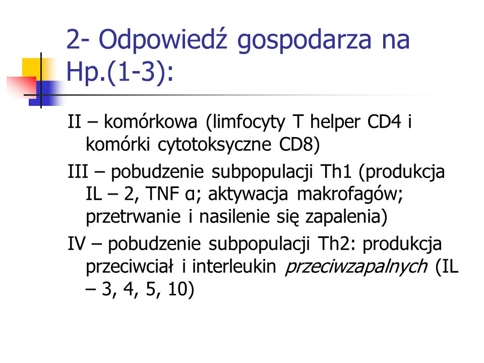 2- Odpowiedź gospodarza na Hp.(1-3):
