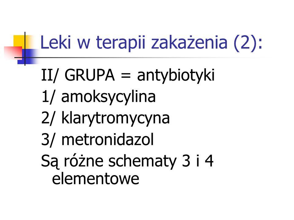 Leki w terapii zakażenia (2):