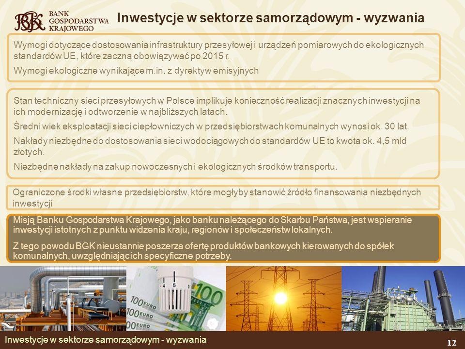 Inwestycje w sektorze samorządowym - wyzwania