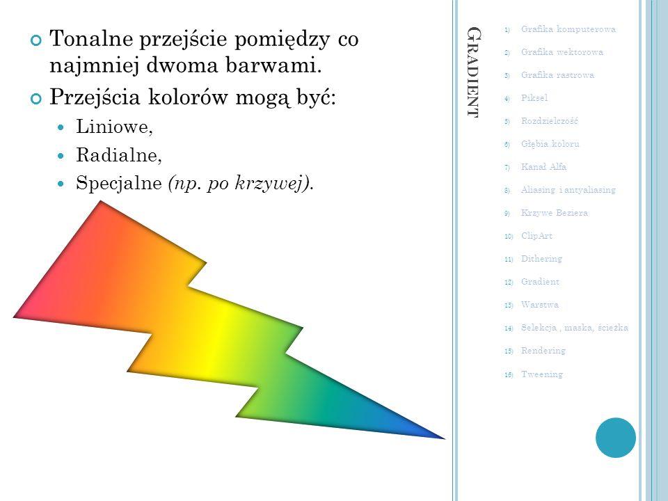 Tonalne przejście pomiędzy co najmniej dwoma barwami.