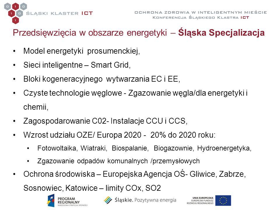 Przedsięwzięcia w obszarze energetyki – Śląska Specjalizacja