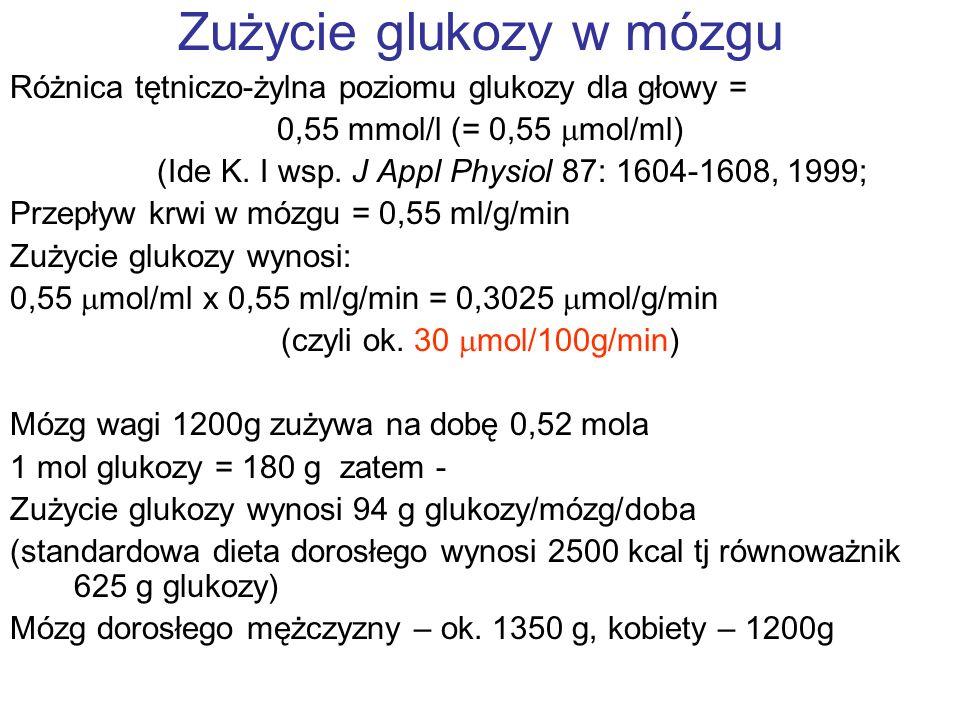 Zużycie glukozy w mózgu