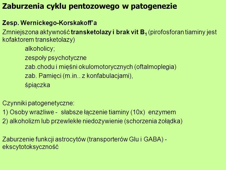 Zaburzenia cyklu pentozowego w patogenezie