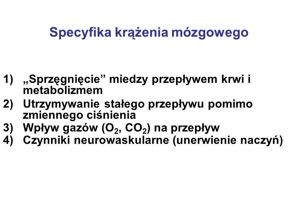 Specyfika krążenia mózgowego
