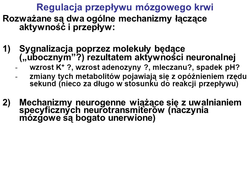 Regulacja przepływu mózgowego krwi